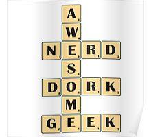 Awesome Nerd Geek Dork Poster