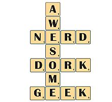 Awesome Nerd Geek Dork Photographic Print