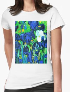 Van Gogh Garden Irises HDR Womens Fitted T-Shirt