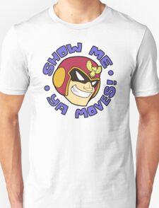 "Super Smash Bros. - Captain Falcon ""Show Me Ya Moves!"" - F-Zero T-Shirt"