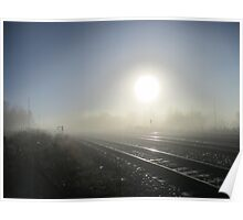 The morning fog, as it covers the land Poster