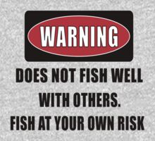 Warning... Does not fish well with others Kids Clothes