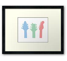Guitar Colour Framed Print