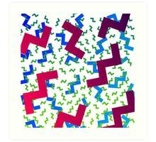 wacky pattern Art Print
