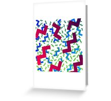 wacky pattern Greeting Card