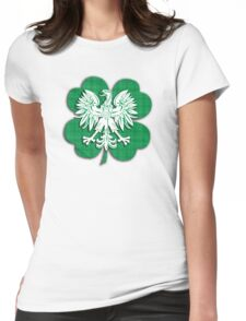 Irish Polish Shamrock Heritage  Womens Fitted T-Shirt