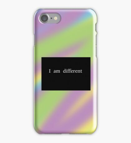I am different  iPhone Case/Skin