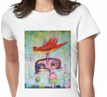 Bouncing a Ball With A Bird On My Head Womens Fitted T-Shirt
