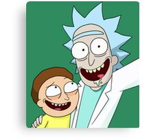 """Rick and Morty """"Selfie"""" Canvas Print"""