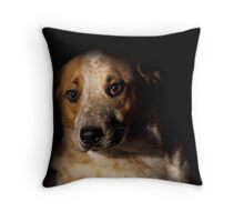 Red Heeler Portrait Throw Pillow