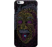 Acid Scientist tongue out psychedelic art poster iPhone Case/Skin