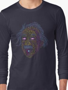 Acid Scientist tongue out psychedelic art poster Long Sleeve T-Shirt