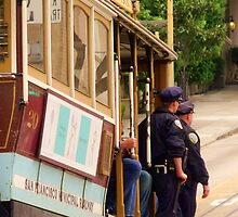 Cops on a Trolley- SFO by David Mellor