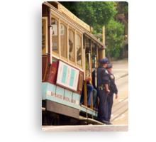 Cops on a Trolley- SFO Metal Print
