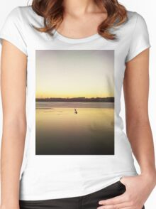 lonely swan Women's Fitted Scoop T-Shirt