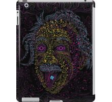 Acid Scientist tongue out psychedelic art poster iPad Case/Skin