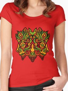 Psychedelic jungle demon Women's Fitted Scoop T-Shirt