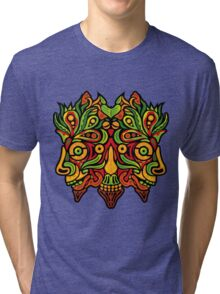 Psychedelic jungle demon Tri-blend T-Shirt