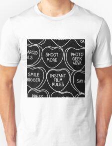 Conversation Hearts For Photographers Unisex T-Shirt