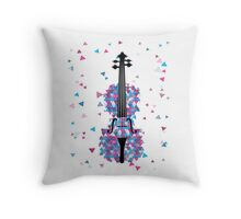 Exploding Violin Throw Pillow