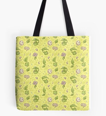 Leafmon and Roses Tote Bag