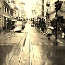 Rainy San Francisco Trolley Ride by David Mellor