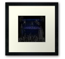 Walking with the Dead Framed Print