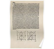 Measurement With Compass Line Leveling Albrecht Dürer or Durer 1525 0127 Alphabet Letters Calligraphy Font Poster