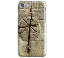 Rune Written in Wood iPhone Case/Skin