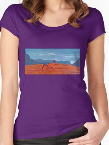Barnesmore Gap, Donegal, Ireland Women's Fitted Scoop T-Shirt