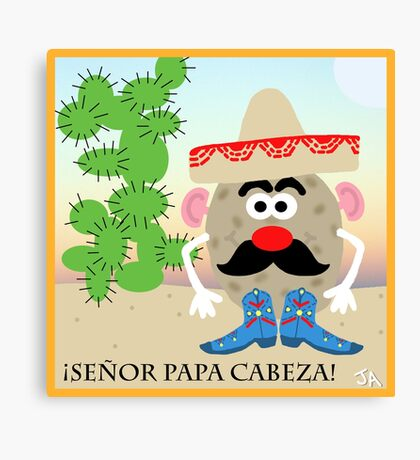 Mexican Mr. Potato Head Canvas Print
