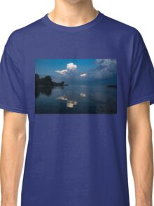 Cool Blue and White Classic T-Shirt