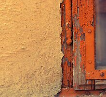 Rusty window frame by farcaphoto