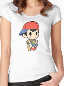 Super Smash Bros. / Earthbound - Ness Women's Fitted Scoop T-Shirt