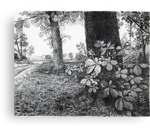Into The Woods - Inkt Pen Drawing Canvas Print