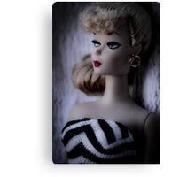 Barbie in Black & White Canvas Print