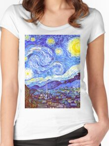 The Starry Night HDR Women's Fitted Scoop T-Shirt