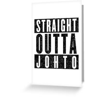 Trainer with Attitude: Johto Greeting Card