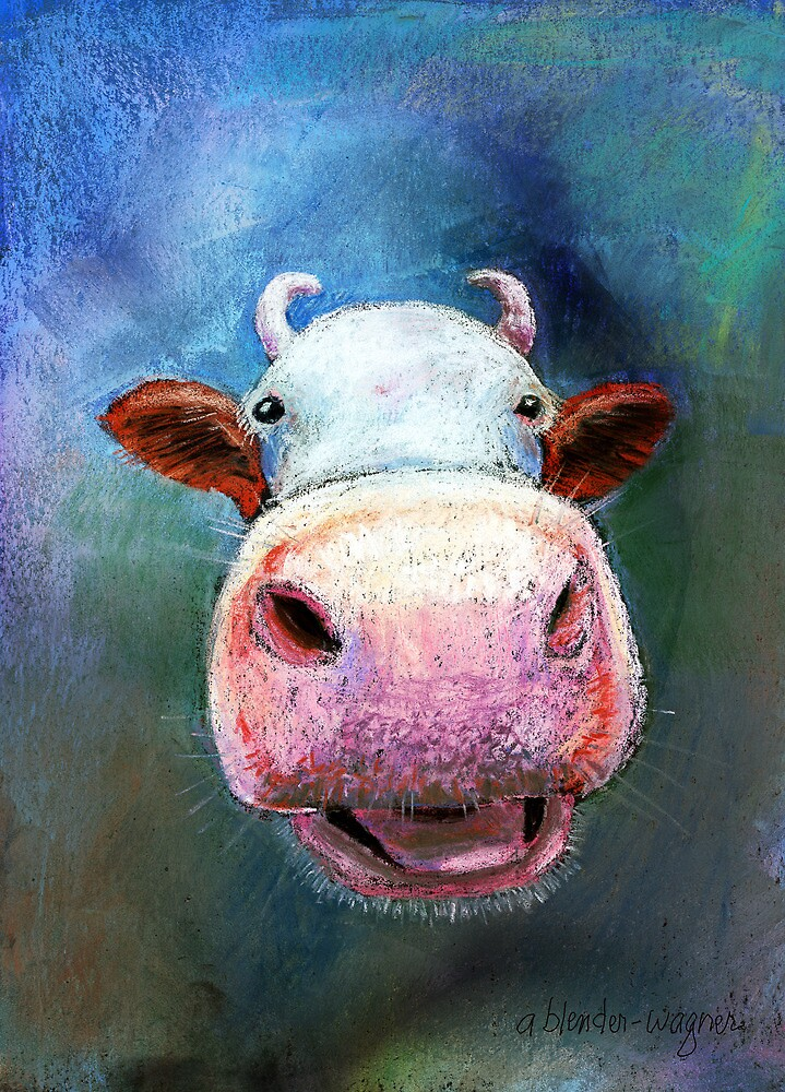 Colorful Cow by arline wagner