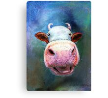 Colorful Cow Canvas Print