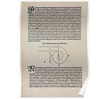 Measurement With Compass Line Leveling Albrecht Dürer or Durer 1525 0010 Spiral Poster