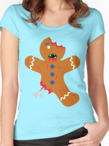 Undead Gingerbread Women's Fitted Scoop T-Shirt