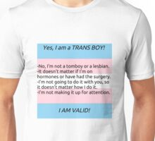 FAQ: Trans Boy Unisex T-Shirt