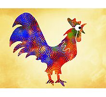 Red Rooster Art Photographic Print