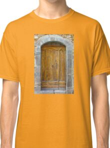 Medieval Wooden Door on Stone Castle, FRANCE Classic T-Shirt