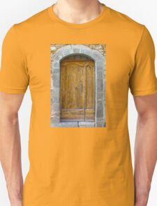 Medieval Wooden Door on Stone Castle, FRANCE T-Shirt