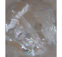 Amazing figure in clear quartz Photographic Print