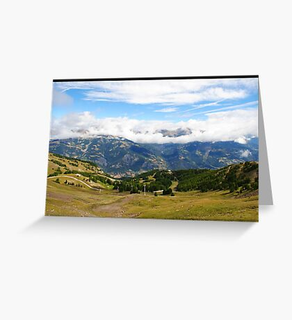 Pra loup in Alps Greeting Card