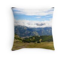 Pra loup in Alps Throw Pillow