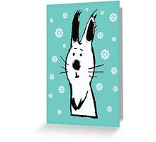 Snow Rabbit Greeting Card